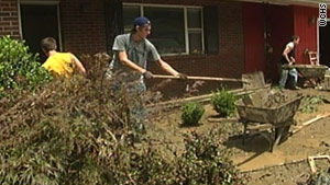 Pike County residents clean up after the flooding.