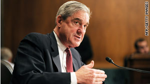 FBI Director Robert Mueller testifies before a Senate Judiciary Committee hearing on Wednesday.