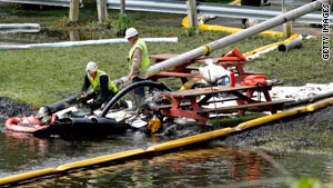 The cause of the spill from a Michigan pipeline is under investigation.