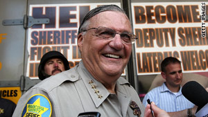 "Maricopa County, Arizona, Sheriff Joe Arpaio calls himself ""America's toughest sheriff."""