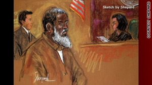 Russell Defreitas is sketched during his court appearance for the JFK conspiracy.