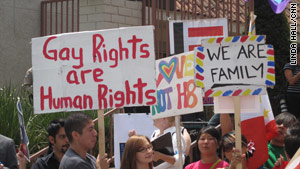 Proposition 8 sparked numerous rallies, including this one in Los Angeles, California, on May 26, 2009.