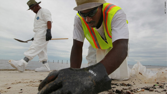 As cleanup efforts continue along beaches and marshes, BP says it is testing and evaluating methods to recycle the waste.