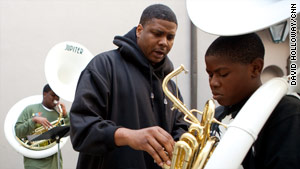 Derrick Tabb started The Roots of Music afterschool program to keep children off the streets of New Orleans.