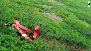 The crash occurred Monday night on a steep hillside in a remote area of southwestern Alaska.