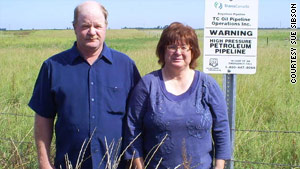 It wasn't Mike and Sue Sibson's choice for an oil pipeline to cross their South Dakota farm.