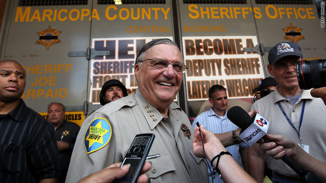 Maricopa County, Arizona, Sheriff Joe Arpaio is known for his hard-nosed opposition to illegal immigration.