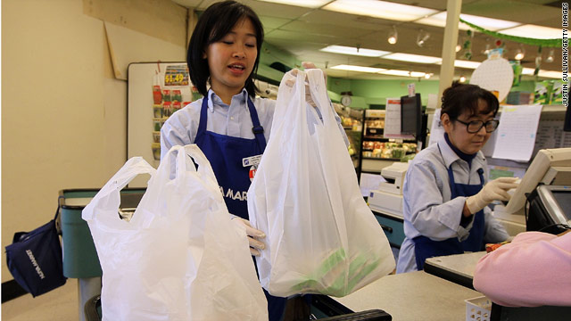 The proposal to ban plastic bags in California grocery stores was voted down 21 to 14.