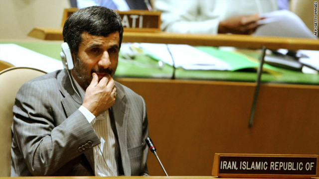 Iranian President Mahmoud Ahmadinejad attends the opening of the Millennium Development Goals summit Monday in New York.