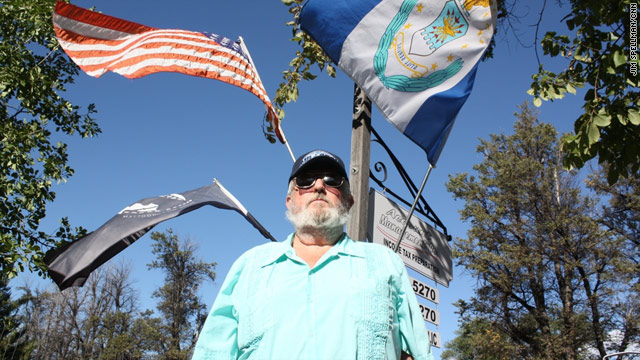 John Daniel, shown at his Colorado home, was saved by Richard Etchberger, who was awarded the Medal of Honor today.