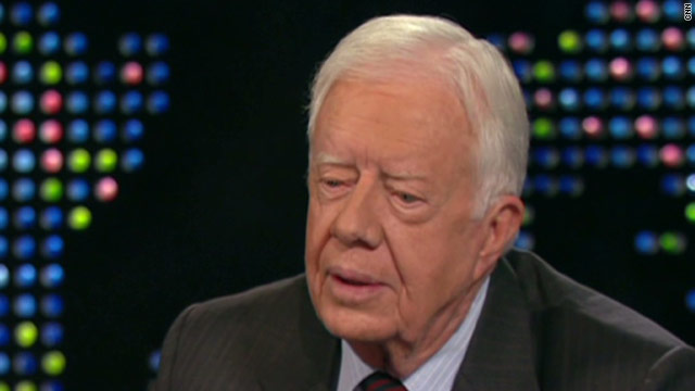 Former President Carter is resting comfortably after he was hospitalized Tuesday with stomach issues.