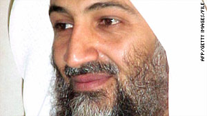 A video purportedly featuring Osama bin Laden's voice shows his photo interspersed with images of disaster zones.