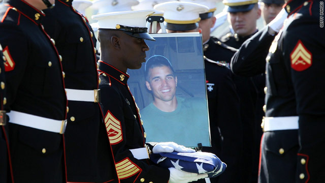 Travis Manion's family decided to relocate his remains to Arlington National Cemetery after learning his best friend, Brendan Looney, was recently killed in Afghanistan.