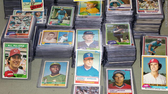 The Metropolitan Police Department in Washington can't locate the owner of this baseball collection.