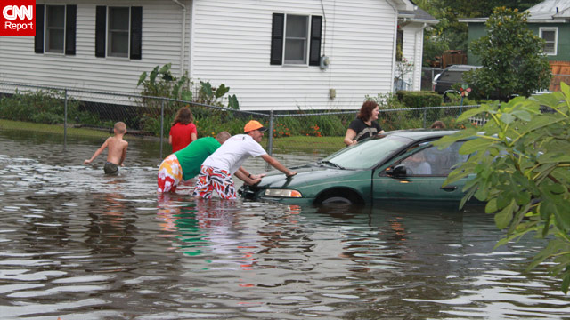Residents of Elizabeth City, North Carolina, coped with flooding from Tropical Storm Nicole at the first of the month.