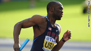 LaShawn Merritt, shown in competition in August 2009, tested positive for DHEA, a banned steroid, last year.