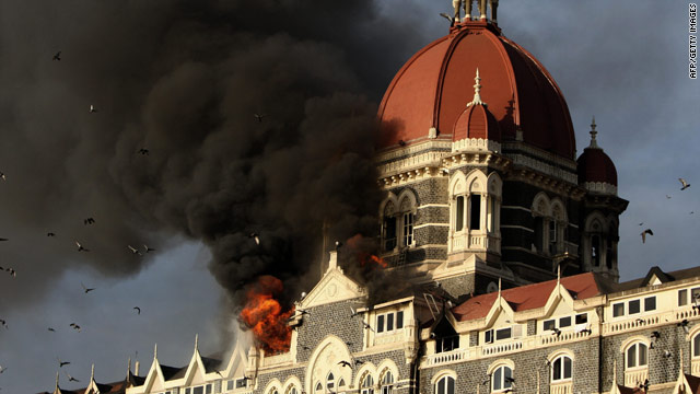 Coordinated attacks in Mumbai, India, left more than 170 dead in November 2008. The Taj Mahal Palace hotel was set on fire.