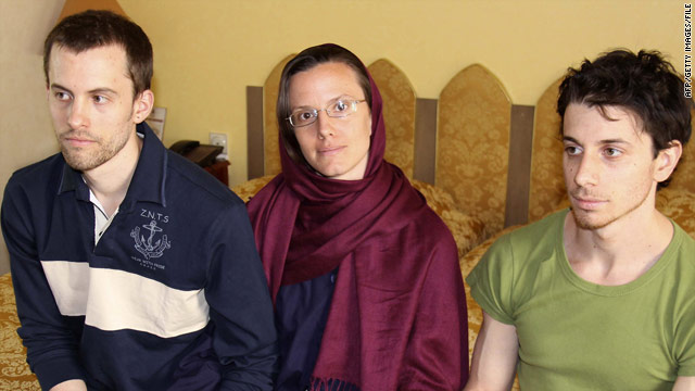 A leaked document indicates Iranian troops crossed the Iraqi border to apprehend U.S. hikers Shane Bauer, left, Sarah Shourd and Josh Fattal.