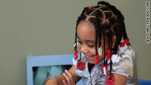 At 4, Carlyn Small of Michigan can already read. Her mom hopes to enroll her in Head Start.