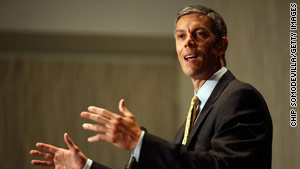 Arne Duncan, secretary of education, was part of the first National Bullying Summit.