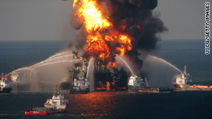 The Deepwater Horizon rig exploded in April.