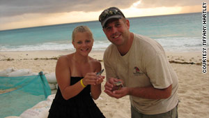 Tiffany and David Hartley loved taking beach vacations. Here, they are shown in Cancun.