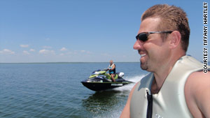 The Hartleys first took their personal watercraft to Falcon Lake in August. They returned on September 30.