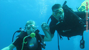 The Hartleys took up scuba diving early in their 8-year marriage.