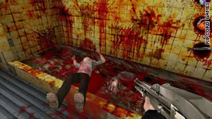 """Postal 2,"" here in a screenshot, is part of a debate between free speech and consumer protection at the high court."