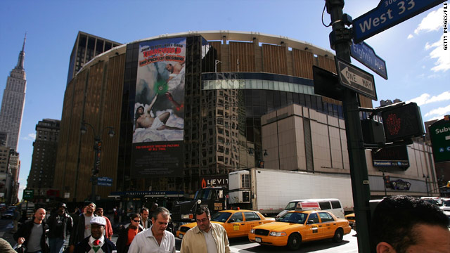 Madison Square Garden is home to the New York Knicks and the New York Rangers.