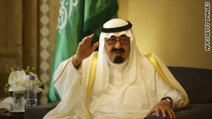 King Abdullah has ruled oil-rich Saudi Arabia since 2005.