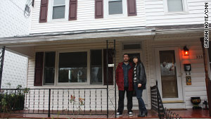 Days after buying their first home together, Jenn Friberg and Rob Quigley found out it used to be a meth house.