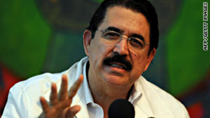 Honduran President Jose Manuel Zelaya was ousted in a coup in June 2008.