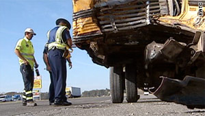 About 20 children were on the bus when it was hit in central Louisiana, officials said.