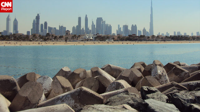 Here's the skyline of Dubai as seen from the Persian Gulf. Or is that the Arabian Gulf? The name is a source of heated debate.