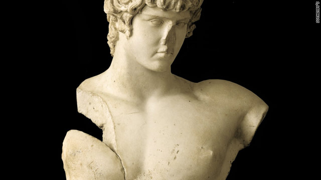 The 33-inch tall marble bust of Antinous has been traced back to between 130 and 138 A.D.