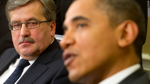 "Polish President Bronislaw Komorowski said he believes ""very much has gone the wrong way in Polish-American relations."""