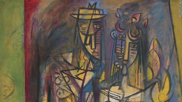 This 1944 painting by Cuban artist Wilfredo Lam sold for $3 million on the first day of this year's Art Basel Miami Beach art fair.