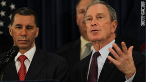 New York Gov. David Paterson, left, with New York Mayor Michael Bloomberg.