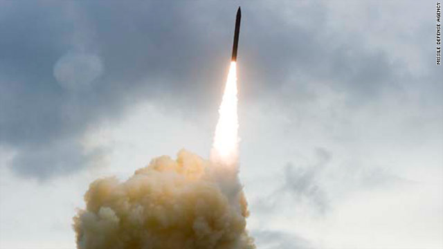 An interceptor missile was launched from Vandenberg Air Force Base, California, on Wednesday. The test failed.