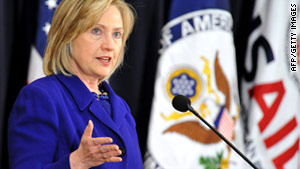 """We are redefining success based on results achieved rather than dollars spent, Secretary of State Hillary Clinton said."