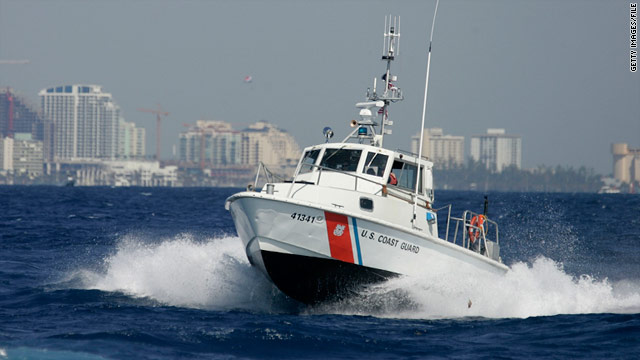 A U.S. Coast Guard boat takes part in a 2007 drill off Miami, Florida.