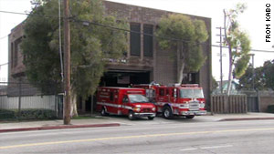 A 27-year-old mother surrendered her baby girl at this fire station in  Los Angeles on Christmas Eve.