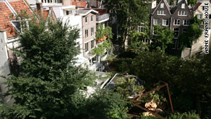 The tree that Anne Frank once admired came crashing down in August. All that remains is its trunk.