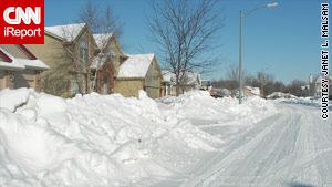 """iReporter Janet L. Malsam of Omaha, Nebraska, says """"it's painful"""" to be outside."""