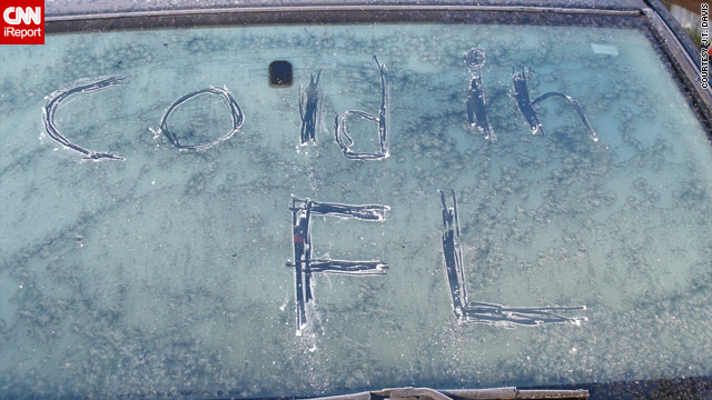 iReporter J.T. Davis says he woke up to icy, 17-degree weather in Perry, Florida, on Sunday.