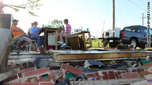 Damage was severe in Yazoo City, Mississippi, where numerous homes were destroyed.