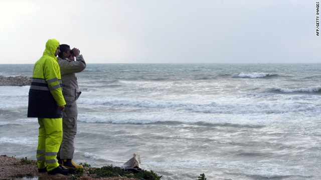 Lebanese rescuers scan the sea as search operations continued off the Lebanese coast south of the capital Beirut on Monday.
