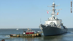 United States warship, USS Porter, was involved in the subsequent chase for the pirates.