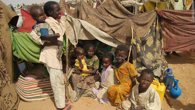 An estimated 2.7 million people fled their homes because of fighting among rebels and government in Darfur.